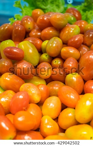 Fresh natural Grape cherry tomatoes - mini tomatoes. - stock photo