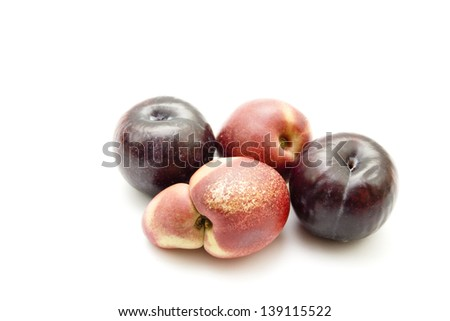 Fresh Nectarine with Plums
