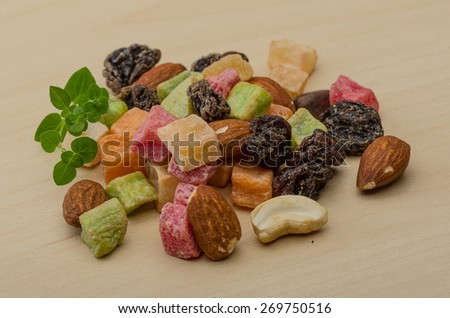 Fresh Nuts and dry fruits mix heap