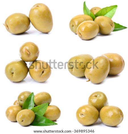 Fresh olives - stock photo
