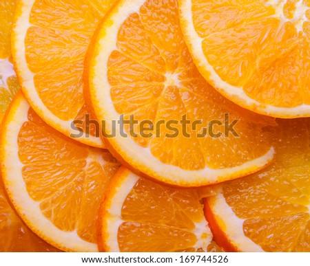 Fresh Orange Background - stock photo