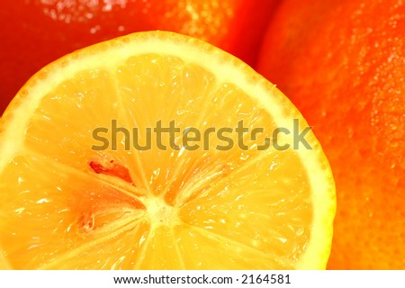 Fresh orange background, Citrus fruits