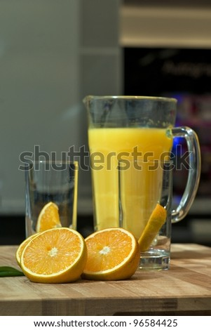 Fresh Orange Juice - stock photo