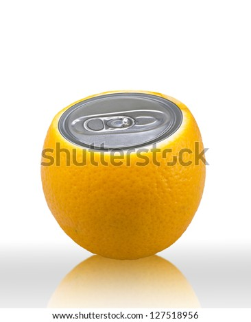 Fresh orange juice. Conceptual photo. (with clipping path)