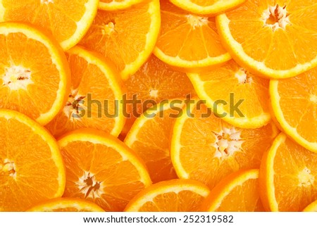 fresh orange slices for background use, full frame - stock photo