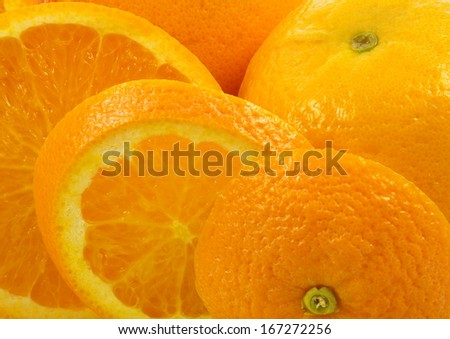 fresh oranges macro closeup