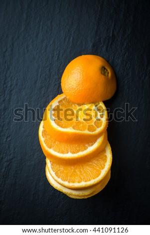 Fresh oranges slices - stock photo