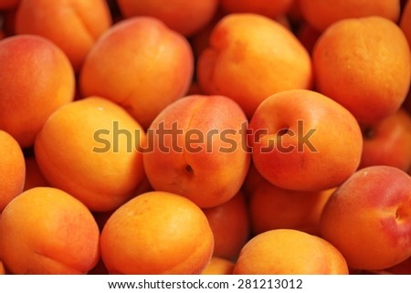 fresh organic apricot background texture - stock photo