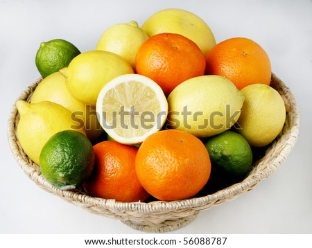 Fresh organic citrus fruits