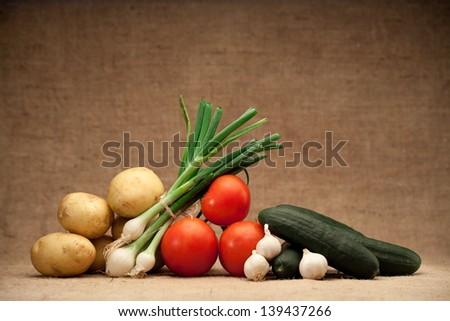 fresh organic food - stock photo