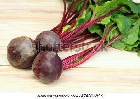 Fresh organic red beets just picked up from the garden, beetroots are washed