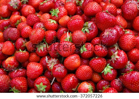 Fresh organic strawberry Background - stock photo