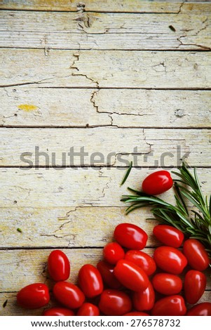 Fresh organic vegetables. Food background. Healthy food from garden - stock photo