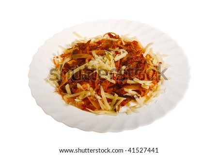 fresh pasta isolated on white