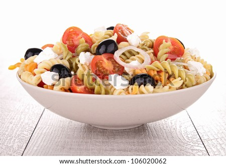fresh pasta salad - stock photo
