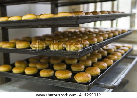 fresh pastries just out of the oven - stock photo