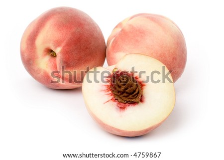 fresh Peach with white background