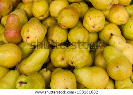 Fresh Pears at Farmers Market - stock photo