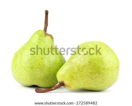 Fresh pears isolated on white background isolated - stock photo