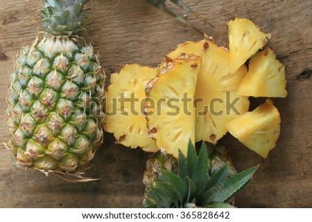 fresh pineapple sweet fruit - stock photo