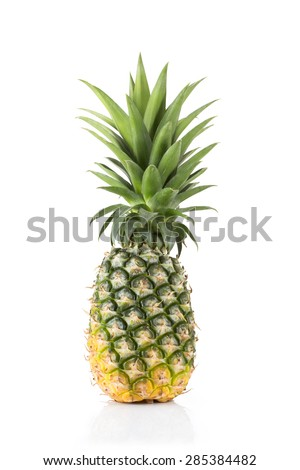 Fresh pineapple with isolated on white