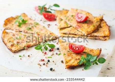 Fresh pizza slices - stock photo