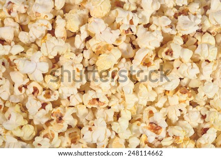 Fresh popcorn as background texture - stock photo