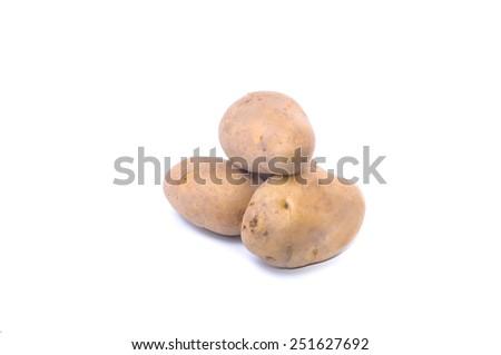 Fresh potato isolated on white background  - stock photo