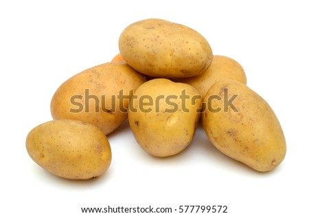 fresh potatoes isolated on a white background