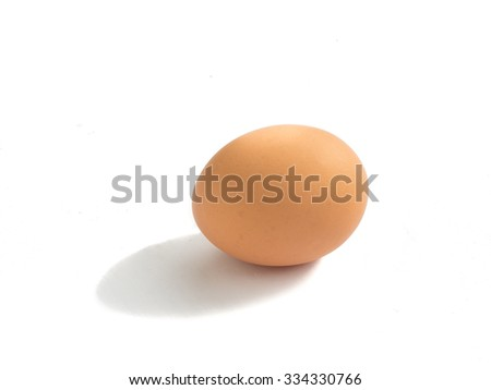 Fresh raw egg from organic farm isolated on white background wit