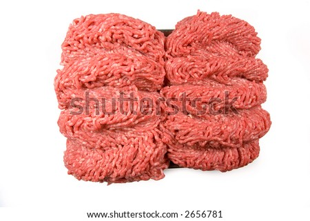 Fresh raw meat isolated on white