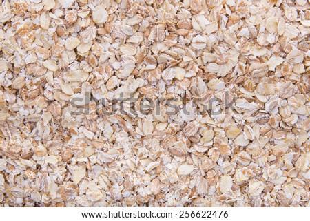 fresh raw natural oatmeal, texture - stock photo