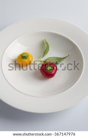 fresh raw pepper - stock photo