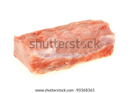 Fresh raw pork
