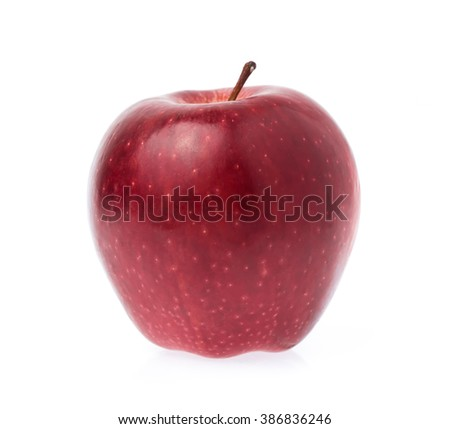 Fresh red apple isolated on white background - stock photo