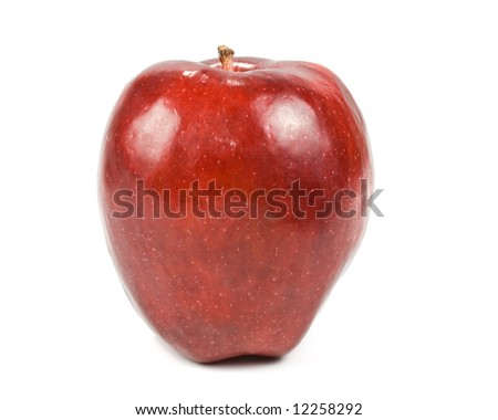 Fresh red apples isolated on a white background