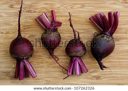 Fresh Red Beets - stock photo