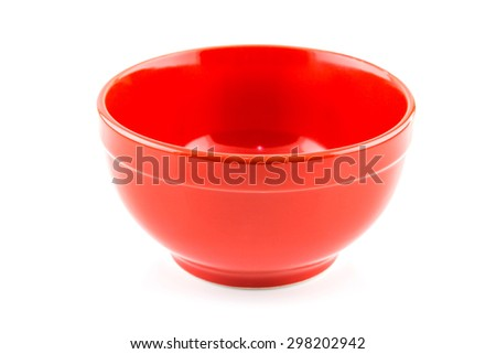 Fresh red bowl isolated on white background