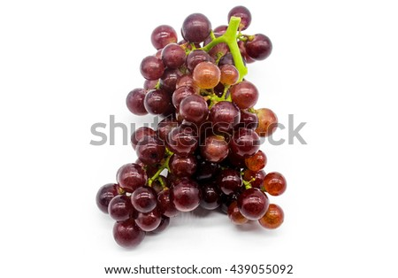 fresh red grapes fruit  isolate on white background, it mean for weight loss, diet, eat clean, healthy. Selective focus - stock photo