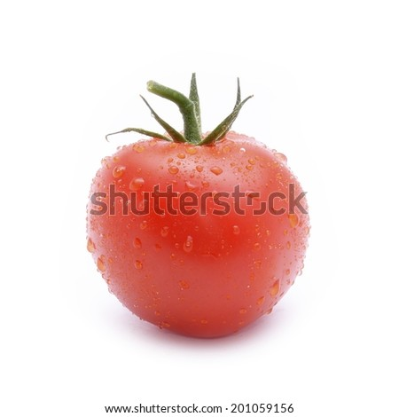 Fresh red tomato  - stock photo