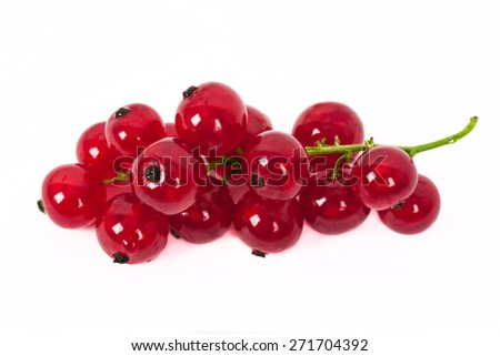 fresh ripe currant photographed closeup isolated on a white background. - stock photo