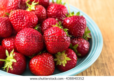 Fresh ripe perfect strawberry. Organic strawberry - stock photo