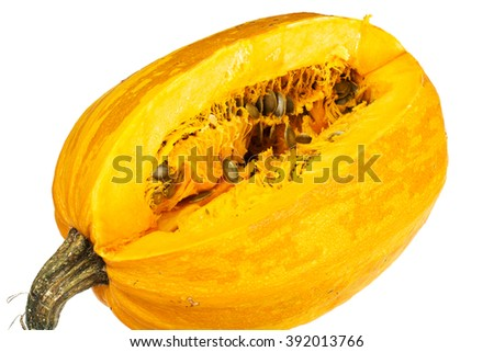 Fresh Ripe Pumpkin. Vegetables for Healthy Diet. Studio Photo. - stock photo