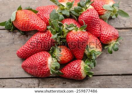 Fresh, ripe strawberries - stock photo