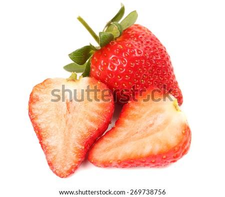 Fresh ripe strawberries - stock photo