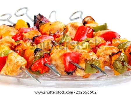 Fresh roasted chicken - stock photo