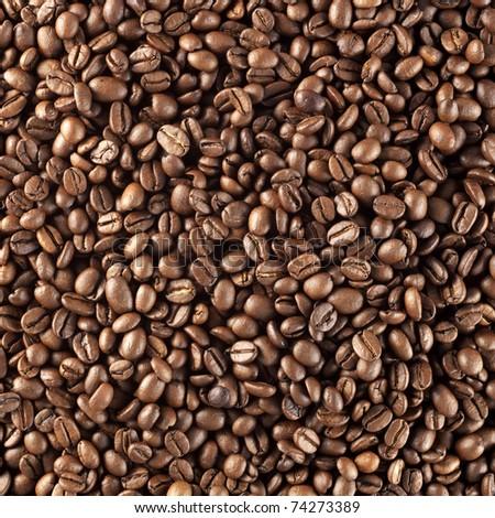 fresh roasted coffee beans - stock photo