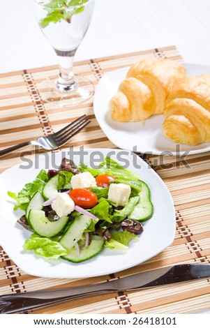 fresh salad and bread
