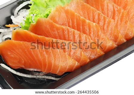 Fresh Salmon Sashimi-Japanese Food  - stock photo