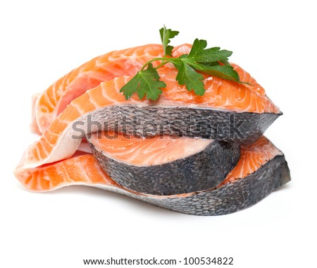 fresh salmon with parsley